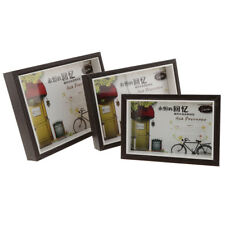 Modern Wood Picture Frame Glass Front Wall Hanging Desktop Frame With Stand