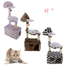 """47"""" Cat Tree Tower Condo Furniture Scratching Post Kitten Pet House 3 Colors"""