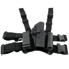 Tactical Right Hand Drop Leg Holster CQC Thigh Pistol Pouch For Glock 17 19 22