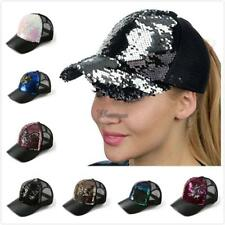 Unisex Casual Breathable Hollow Patchwork Sequin Baseball Cap WT88 01