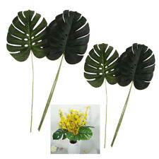 5x Large Artificial Leaf Faux Monstera Foliage Leaves for Garden Home Decor