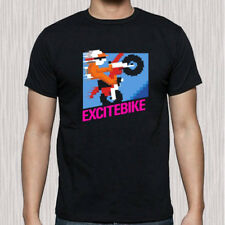 Excite Bike Video Game Classic NES Retro Men's Black T-Shirt Size S to 3XL
