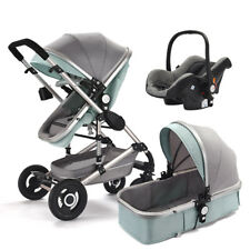 High end Baby Stroller 3 in 1 High Landscape Pram foldable pushchair&Car Seat