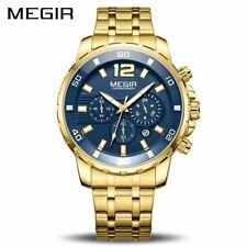 MEGIR Chronograph Quartz Men Watch Top Brand Luxury Army Military Wrist Watches