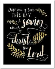 Unto Us A Child Is Born This Day A Art Print Home Decor Wall Art Poster - H