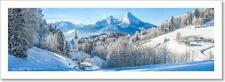 Winter Landscape In The Bavarian Alps Art Print Home Decor Wall Art Poster - F