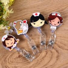 Id Holder 1pc Badge Reel Retractable Student Nurse Exhibition Name Card Tag Cute