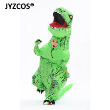 Inflatable Dinosaur Costume Kid Halloween T-Rex Blow Up Suit Party Fancy Dress