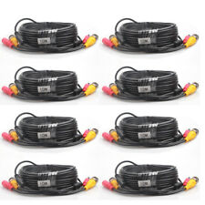 1 -8 Pcs -LS86 10M Security Camera Cable CCTV Video Power Wire BNC RCA Cord Lot