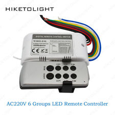 AC220V Light Receiver 6 Groups RF Digital Wireless Remote Controller Switch Home