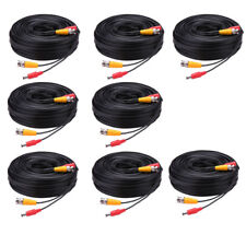 1 - 8 Pcs -LS90 30M Security Camera Cable CCTV Video Power Wire BNC RCA Cord Lot