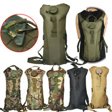 3L Water Backpack W/Bladder Bag Hydration Climbing Camping Hiking Survival Pack
