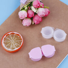 1 x lens box mini plastic soaking portable travel contact storage case holder