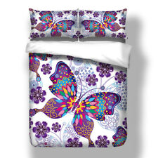 Butterfly Comfortable Quilt Cover Duvet Cover Set Pillowcase Twin Queen King new