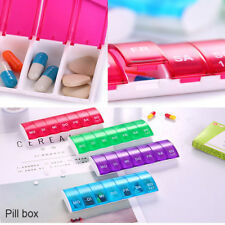 Dispenser 7 Days Weekly Mini Storage Container Pill Cases Medicine Boxes