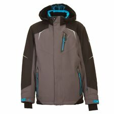 Boys' KILLTEC Yuro Jr Insulated Ski Jacket DARK ANTHRACITE Winter Coat w/ Hood