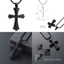 Stainless Steel Cross Memorial Cremation Ashes Urn Pendant Necklace Keepsake...