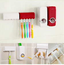 Automatic Toothpaste Dispenser Squeezer 5 Toothbrush Holder - Free Shiping