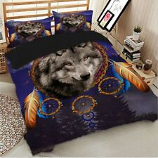 Wolf Print Bedding Set Queen King Full Twin Duvet Cover Set Quilt Cover new 3pcs