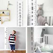 Baby Height Growth Chart Hanging Rulers Kids Room Wall Wooden Frame Home Decor
