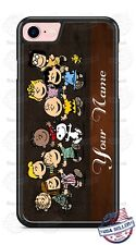 Charlie Brown Gang Brown Leather Design Personalized Phone Case for iPhone etc.