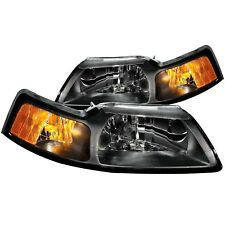 Anzo USA 121040 Crystal Headlight Set Fits 99-04 Mustang