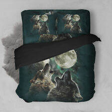 Howling of a Wolf Duvet Cover Set Quilt Cover Full Sizes Queen King Twin new