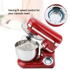 4L Electric Food Stand Mixer 6 Speed 1200W Tilt-Head Stainless Steel Bowl New