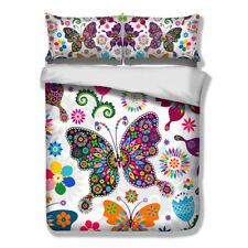 Riot of colour Butterfly Duvet Cover Set Twin/Full/Queen/King Sizes Pillow case