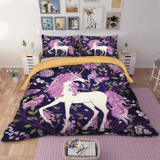 Purple pony Duvet Cover Set Quilt Cover Queen King Twin Full Pillow case