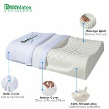 PurenLatex 60x40 Thailand Pure Natural Latex Pillow Remedial Neck Protect