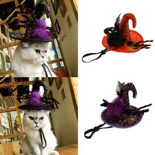 Dog Cat Halloween Costume Witch / Wizard Hat Cap Headwear for Cats Small Dogs