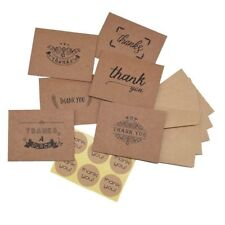 6 Pack of Kraft Paper Thank You Cards for Handmade Greeting Letter Message Card