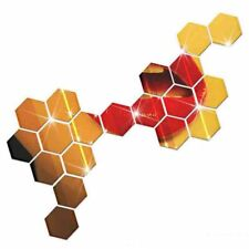 Hexagon Mirror 7pcs Wall Stickers Removable Decal Vinyl Sticker For Home Decors