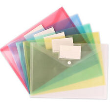 A4 Document Bag Paper File Folder Stationery School Office Case PP 6 Colors TOP