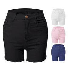 Fashion Womens Ladies High Waist Summer Casual Polyester Hot Pants Shorts Jeans