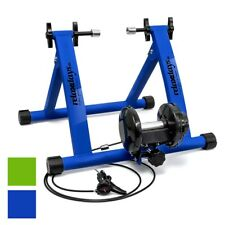 "Indoor Bicycle Resistance Trainer Cycling 6 Gears 26-28"" 2 Colours Blue/Green"