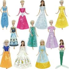 Barbie Doll Fairy Tale Princess Dress Snow White Cinderella Anna Wedding Party
