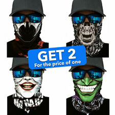Face Shield Mask Balaclava Neck Warmer Motorcycle Cycling Outdoor Scary Scarf