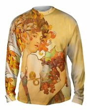 "Yizzam- Alphonse Mucha - ""Fruit"" (1897) - New Mens Long Sleeve Tee Shirt XS S M"