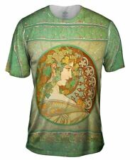 "Yizzam- Alphonse Mucha - ""Laurel"" (1901) - New Men Unisex Tee Shirt XS S M L XL"