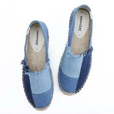 Womens Girls Slip On Espadrilles Flats Canvas Casual Summer Sneakers Pumps Shoes