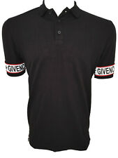 Brand New Red Logo Line GIVENCHY PARIS T-Shirt Tee Camiseta Cotton Black Size