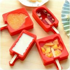 Cartoon Diy Silicone Ice Cream Mold Popsicle Maker Holder Frozen Mould Kitchen