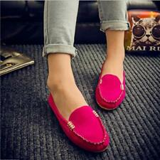 Summer Womens Loafers Moccasin Suede Ballet Slip On Flats  Fashion Casual Shoes