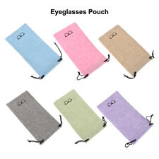 Optical Glasses Case Eyeglasses Pouch Sunglasses Bag Lanyard Cloth Bags
