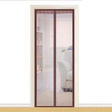 Magnetic Screen Door Heavy Duty Curtain Full Frame Ventilate-Coffee