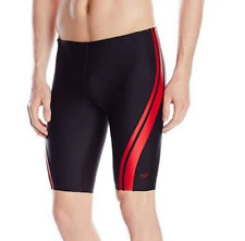 Speedo Quantum Splice Jammer Swimsuit Shorts Black Red 34/36/38 Brand New $49