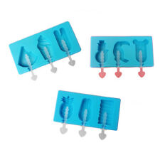 DIY Ice Pop Mold Silicone Popsicle Molds with Lids,Plastic Sticks Reusable