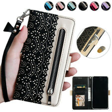 Zipper Wallet Case Patterned Flip Cover for Samsung Galaxy S10e S9 S8+ Note10+